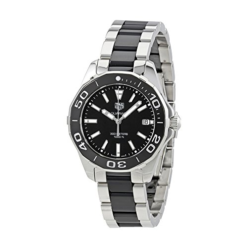 Tag Heuer Aquaracer Black Dial Steel and Ceramic Ladies Watch WAY131A.BA0913 by TAG Heuer