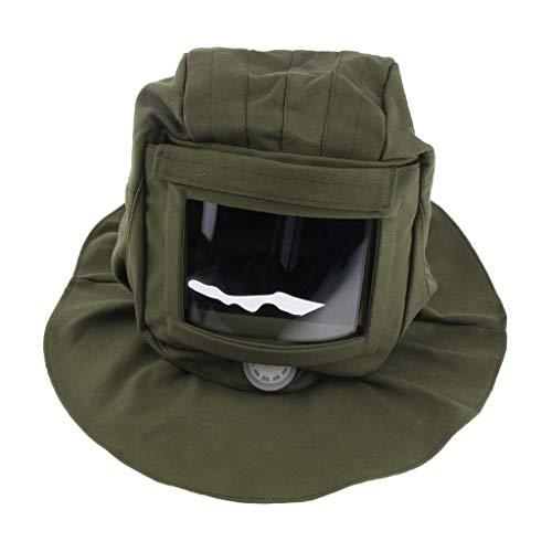 - Flameer Sand Blasting Hood Large Lens and Adjustable Hard Hat Sand Blast Helmet
