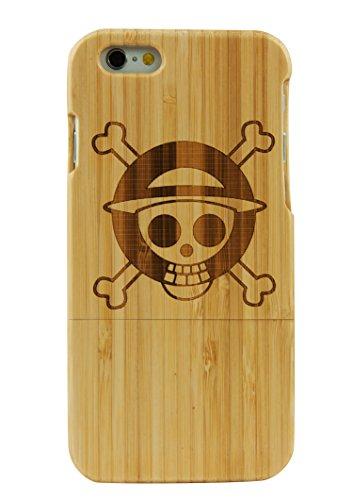 SunSmart Manual Natural Wood Bamboo Caja De Madera para iPhone 6 plus 5.5 (fuegos artificiales) una pieza