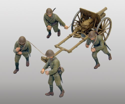 Fine Molds IJA Type 41 Mountain Gun Mountain Artillery Kit, 75mm, 1:35 - Reviews Model Dragon