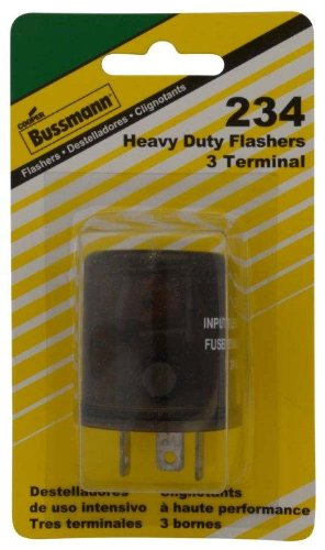 Bussmann (BP/234-RP) Round 20 Amp 24V DC Carded Heavy-Duty Electronic Flasher