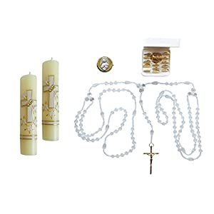 Unique Wedding Kit with Arras Gold-Plated Coins Lazo Candles and Rings Box Locket Kit De Boda 37