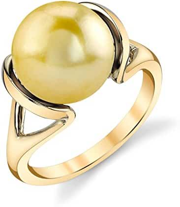 14K Gold Golden South Sea Cultured Pearl Hanna Ring