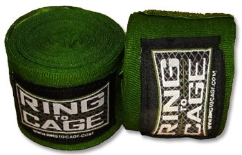 Ring to Cage MMA Muay Thai Boxing Handwraps Mexican Style Stretchable-Green 180″