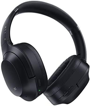 Razer Opus Active Noise Cancelling ANC Wireless Headphones: THX Audio Tuning - 25 Hr Battery - Bluetooth & 3.5mm Jack Compatible - Auto Play/Auto Pause - Carrying Case Included - Classic Black