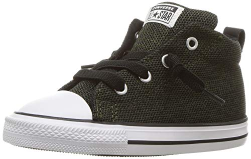 Converse Boys' Chuck Taylor All Star Street Mid Sneaker, Utility Green/Black/White, 8 M US Toddler