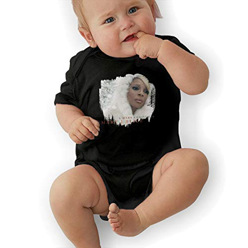 JosephG Baby's Mary J Blige A Mary Christma Bodysuit Outfits Black -