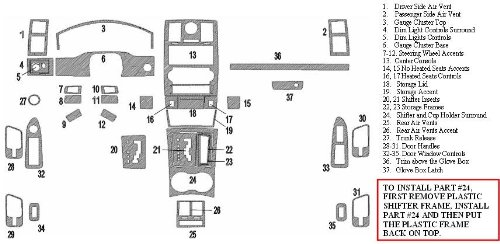 Chrysler 300 300C Hemi W//Navigation Touring Int/érieur Burl Bois Dash Kit Garniture Set 2005 2006 2007