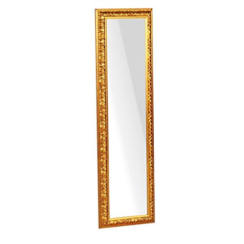 arne ウォールミラー 壁掛け 鏡 姿見 アンティーク アンティーク調 アンティーク風 玄関 リビング スリム F-006WM2090 ゴールド B00U8OTE8M ゴールド ゴールド
