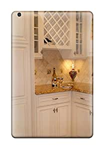 Tpu Case Cover For Ipad Mini/mini 2 Strong Protect Case - White Cabinetry And Terra Cotta Flooring In A White Kitchen Design
