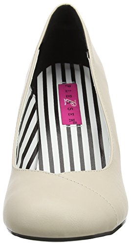 Tacco Faux Pleaser Chiusa Beige Punta Leahter Crpu col Jenna Donna Pink 01 Scarpe Label Cream xYqg1wf