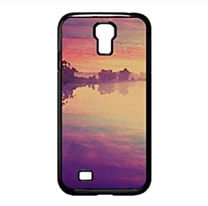 Purple River Reflection Watercolor style Cover Samsung Galaxy S4 I9500 Case (Rivers Watercolor style Cover Samsung Galaxy S4 I9500 Case)