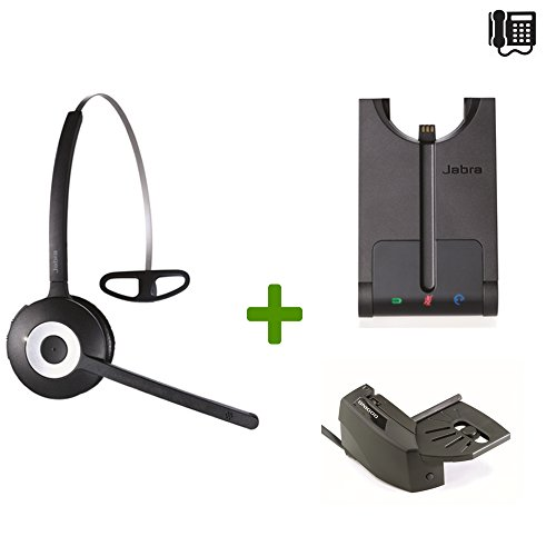 Pro System Wireless Headset (Nortel Compatible Jabra PRO 920 Wireless Headset Bundle | Electronic Remote Answerer included | Nortel Phones: Meridian, Maestro, Norstar, Nortel Networks, Rapport, Unity, Vantage, Venture)