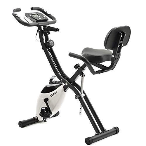 Merax Fitness Bike, Exercise Bike with Traning Computer and Expander Cycling Bike, 10-Level Magnetic Resistance Fitness Bike Training Device Foldable X-Bike Foldable Fitness Bike