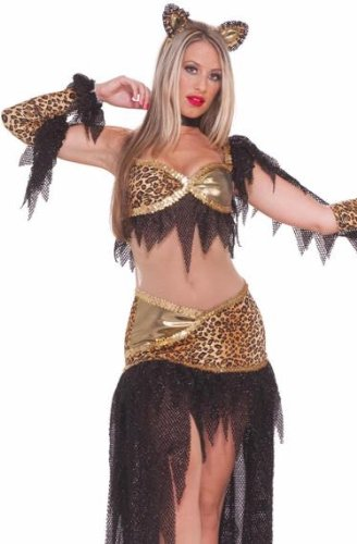 [Forum Sexy Leopard Ballroom Dancing Cat Outfit Costume XS/S [Apparel]] (Holloween Spirits Costumes)