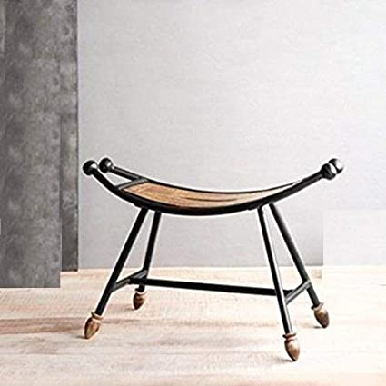 Admirable Antique Wooden Wrought Iron Stool Children Chair Garden Gmtry Best Dining Table And Chair Ideas Images Gmtryco