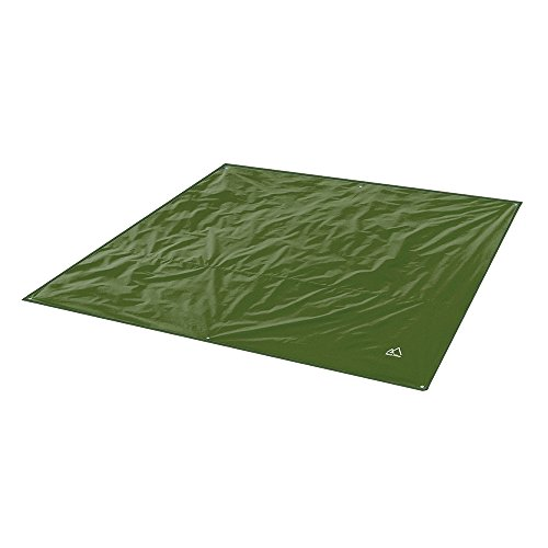 "Terra Hiker Camping Tarp, Water Proof Picnic Mat, Mutifunctional Tent Footprint with Drawstring Carrying Bag for Picnic, Hiking (Dark Green 94"" x 86"")"