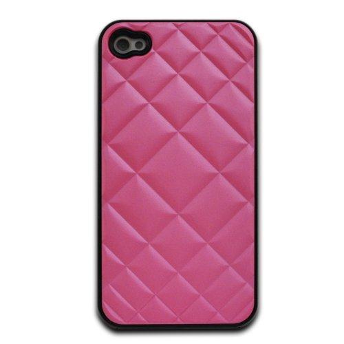 deinPhone - iPhone 4 4S Case Schutzhülle Schutz Handy Hülle Bumper Tasche Etui Stoffmuster in Rosa