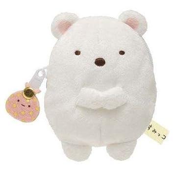 Cartera bolsito peluche kawaii oso blanco Sumikkogurashi