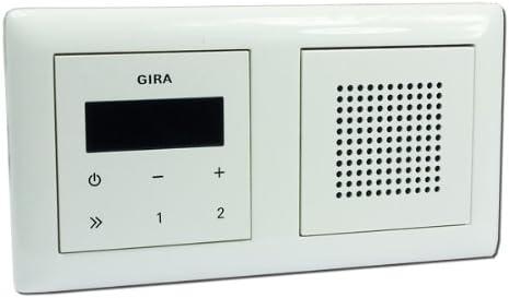 Gira Unterputz Radio Rds Mit Lautsprecher Und Rahmen Amazon De Elektronik
