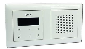 Gira Unterputz-Radio RDS mit Lautsprecher und Rahmen: Amazon.de ...