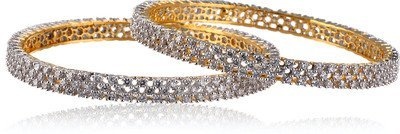 MGold Beautiful Cz Stone Studded Gold Plated Designer Bangle Bangles & Bracelets at amazon