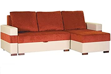 Outstanding Apollo Large Red And Beige Off White Fabric And Faux Leather Caraccident5 Cool Chair Designs And Ideas Caraccident5Info
