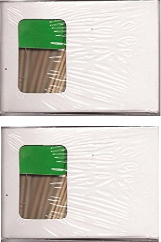 2 Boxes of Solid Green Toothpick Flags, 200 Small Mini Green Flag Cupcake Toothpicks or Cocktail Picks (Green)