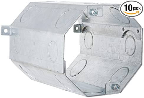 1//2 and 3//4 Knock-Out Double Row Hubbell-Raco 276 Concrete Ring 6 Depth Pack of 10