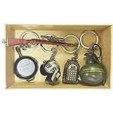 PUBG Game key chain 5pcs set Playerunknown's Battlegrounds 3D Keychain Keyring men and women gift