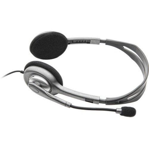 Logitech Stereo Headset H110 - Stereo - Black, Silver - Mini-phone - Wired - 32 Ohm - 20 Hz - 20 kHz - Over-the-head - Binaural - Supra-aural - 5.91 ft Cable