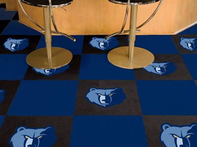 Fan Mats Memphis Grizzlies Carpet Tiles, 18'' x 18'' Tiles by Fanmats