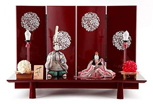 雛人形 一秀 ひな人形 雛 木目込人形飾り 平飾り 親王飾り 木村一秀作 さくらさくら 20号 h313-ic-141   B015MKQI26