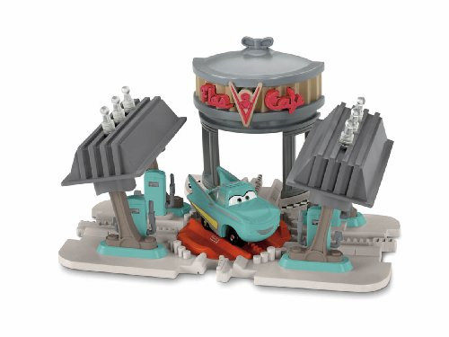 Disney Pixar Cars GeoTrax Transportation System Flo's V-8 Café by Fisher-Price (Flo System)