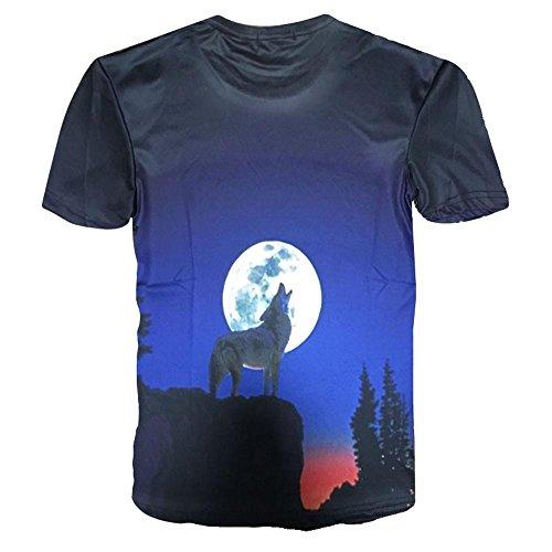 Aimee7 shirts Summer corta Printing manica 2xl 3D da T uomo Casual Funny r7qS7w