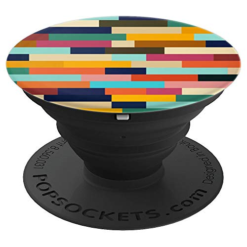 Multicolor Abstract Summer Retro Patchwork - Vintage Love - PopSockets Grip and Stand for Phones and ()