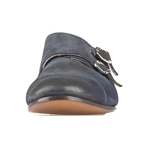 Uomo Goodyear Daime Pelle Bluette Doucal's 41131 Fibbia Mod Soft Mocassino Blu Doppia a5Yvw