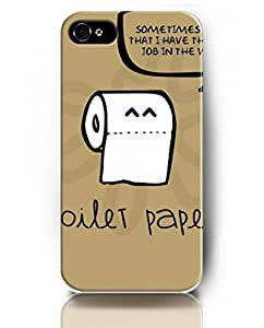 Exquisite Colored Pattern - toilet Paper - UKASE Back Case Cover Protector Skin for iPhone 4/4S