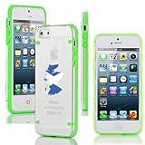Apple iPhone 4 4s Ultra Thin Transparent Clear Hard TPU Case Cover Scotland Scottish Flag (Green)