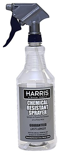 Harris 100% Chemically Resistant Professional Spray Bottles, 32oz (Chemical Resistant Spray Bottles)
