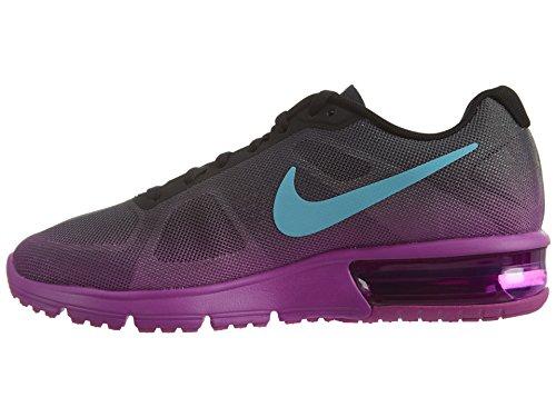 Nike Vrouwen Air Max Sequent Loopschoen Black / Hyper Violet / Donkergrijs / Gamma Blauw Maat 7,5 M Ons