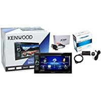 Kenwood DDX371 6.1 Double Din DVD Receiver w/ Jensen JCAM1 Backup Camera and SiriusXM SXV200V1 Tuner and Antenna Package