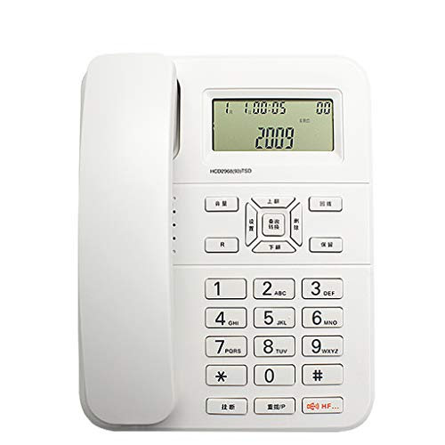 (DIAN HUA Caller Id Telephone, Mute/Lightning Protection/Anti-Jamming/IP Home Cordless Office Landline, Can Set 3 Alarm Clocks - Size: 220 60)