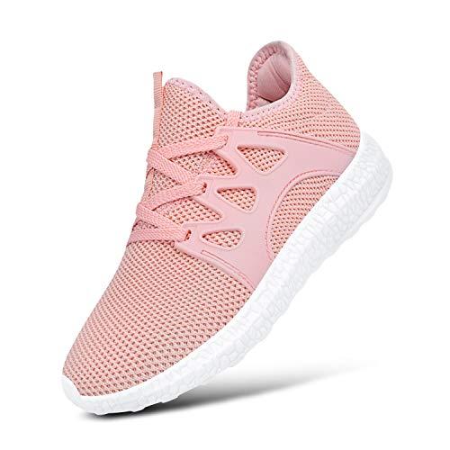 Feetmat Girls Sneakers Lightweight Breathable Kids Tennis Shoes for School Pink13.5 Little Kid ()
