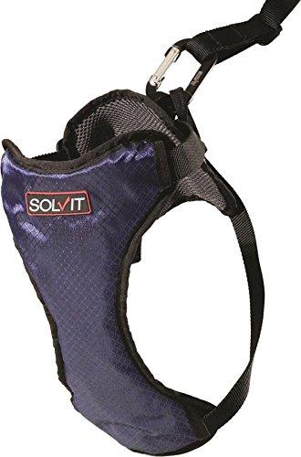 Harness Dog Travel (Solvit PetSafe Deluxe Car Safety Dog Harness, Adjustable Crash-Tested Dog Harness, Car Safety Seat Belt Tether Included)