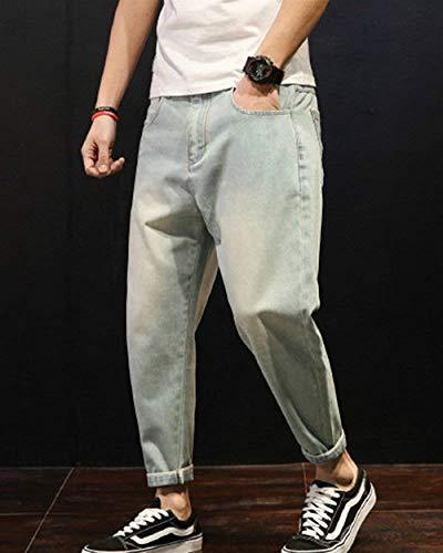Mezclilla De Mezclilla Mezclilla Hombres Ropa Normal Casuales Cintura De Básicos Normal Con Alta Hellblau Pantalones Pantalones De Haremshose Pantalones De Pantalones Pantalones Lavado Mezclilla De Para Ca8wqq7Z