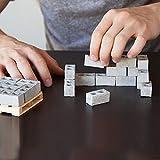 Quaanti Building Brick Block Set for Kids,32Pcs Mini Cement Cinder Bricks Build Your Own Tiny Wall Mini Red Bricks Miniature Cinder Blocks (Size:1.3x0.7x0.7in) (Gray)