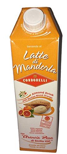 Condorelli Latte di Mandorla - Almond Drink with Sicilian Blood Orange 1 Liter ()