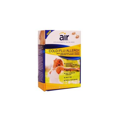 AIR Cold/Flu/Allergy Advanced Nasal Filter, Medium, 12 Count