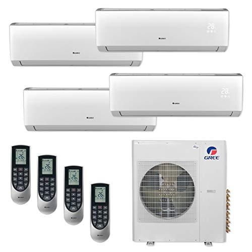 Gree MULTI36CVIR402-36,000 BTU Multi21+ Quad-Zone Wall Mount Mini Split Air Conditioner Heat Pump 208-230V (9-9-9-18)